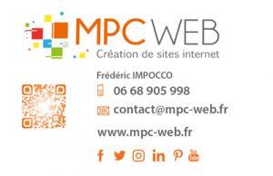 carte de visite MPC WEB creation de sites internet Tarbes Pau